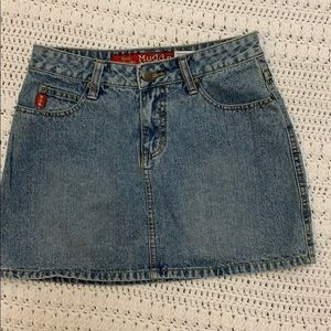 Juniors Mudd jeans denim skirt
